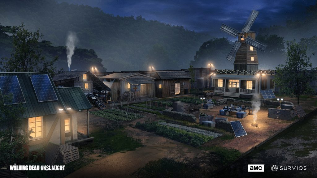the walking dead onslaught concept art village